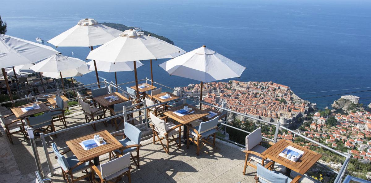 Het Panorama restaurant in Dubrovnik
