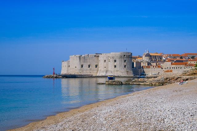 Het Banje strand in Dubrovnik