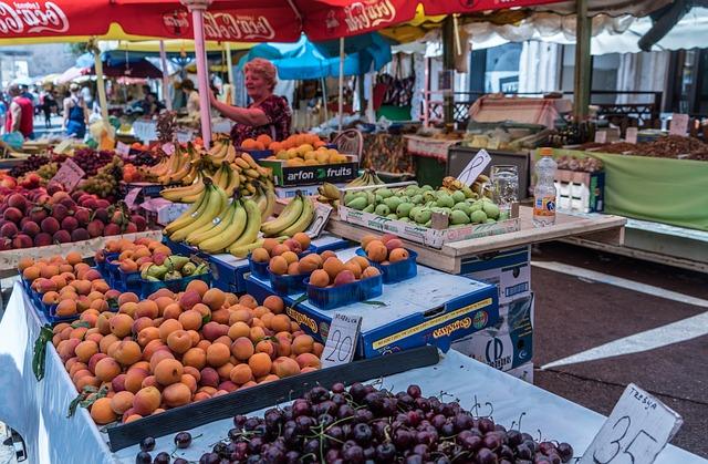 De groene markt in Trogir