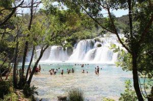Krka watervallen in Kroatië