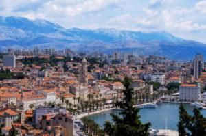 Uitzicht op de stad Split