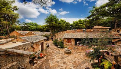 Het Dalmatië ethno dorp in Sibenik