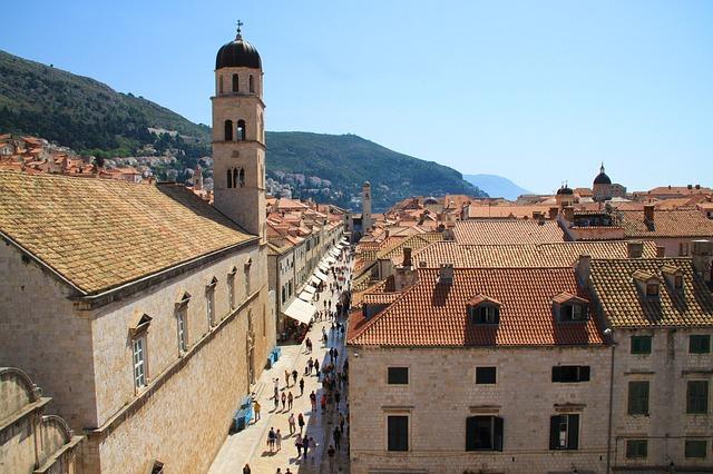De hoofdstraat Stradun in Dubrovnik