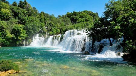De watervallen van Nationaal Park Krka